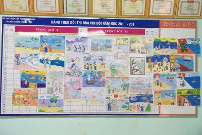"""Liên đội THCS Ea Yông tổ chức Hội thi vẽ tranh """"Thiếu nhi với biển đảo quê hương"""" năm 2017 cấp Liên đội"""